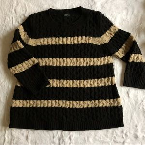 J Crew Fisherman Boxy Striped Sweater